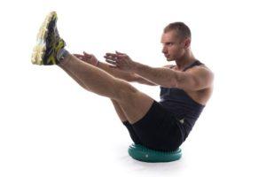 Балансировочная подушка – фитнес-тренажер, представляющий собой резиновую, наполненную воздухом подушку
