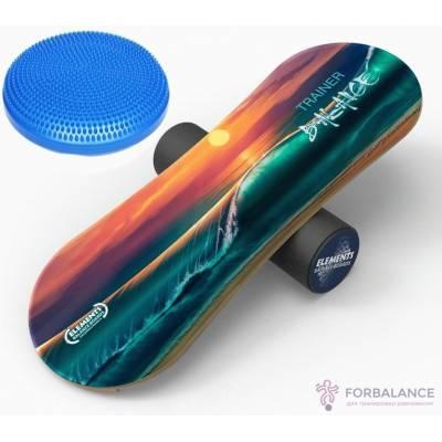 Комплект, баланс борд Elements long, и надувной диск равновесия