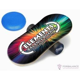 Комплект, баланс борд Elements Eight и надувной диск равновесия