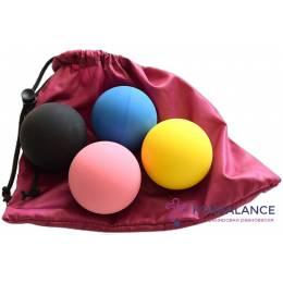 Набор кинезиологических мячей 4 шт в мешочке